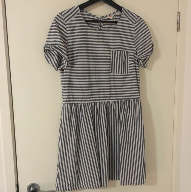 LEVI'S Cotton Stripe Dress