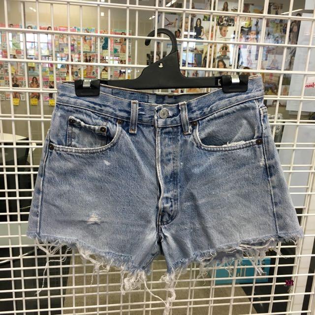 Levis Denim Shorts High Waist