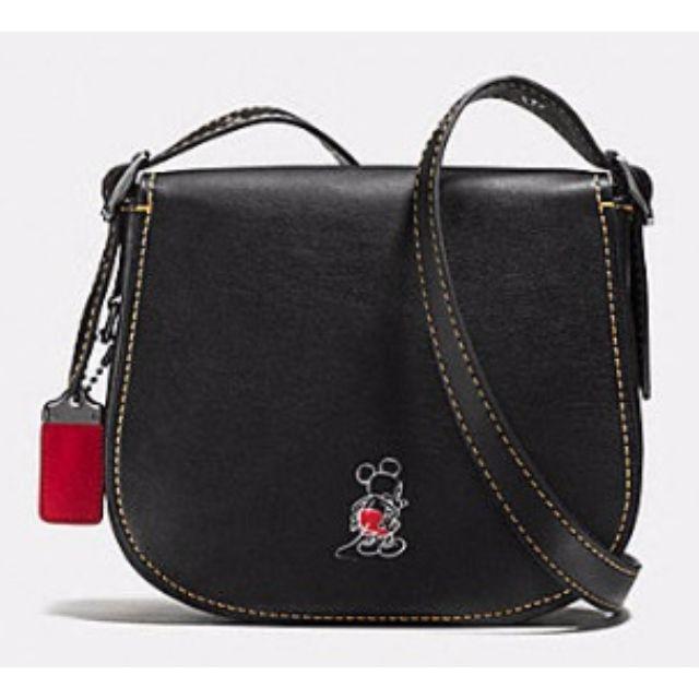 5f4deb27 [Limited Edition BN] DISNEY x COACH MICKEY Saddle Bag 23 Black