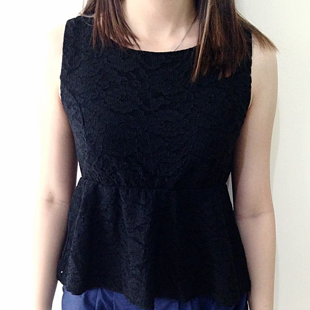 Magnolia Lace Peplum Top