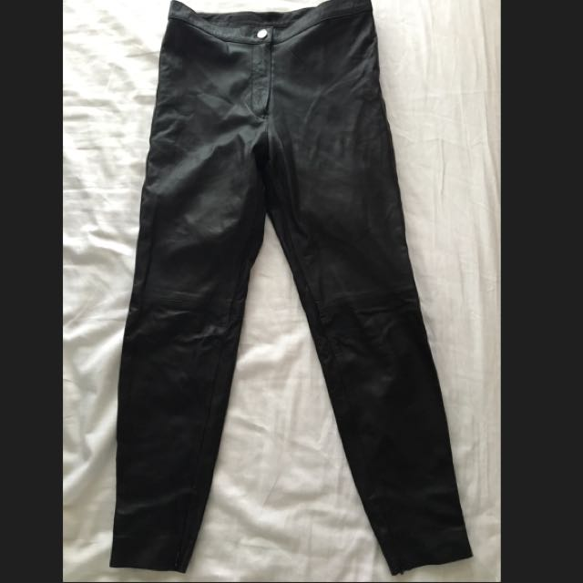 NEW Black Leather Pants