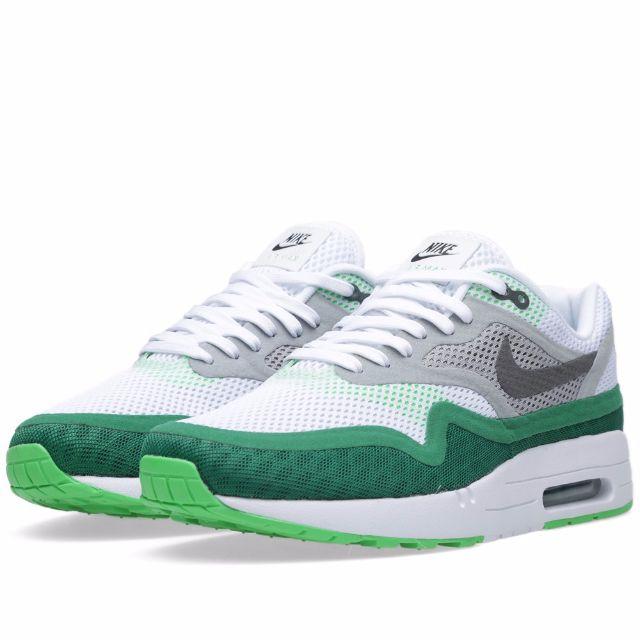 best website 1f8d3 30b8d Nike Air Max 90 1 Breathe White Dark Grey Green  644140-103 , Men s ...
