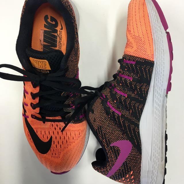 Nike Runners Trainers 8.5 Black Orange Pink