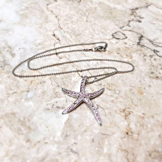Chomel Pink Starfish Necklace / Kalung Bintang Laut