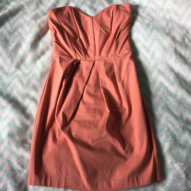 Pink Strapless Mini Dress