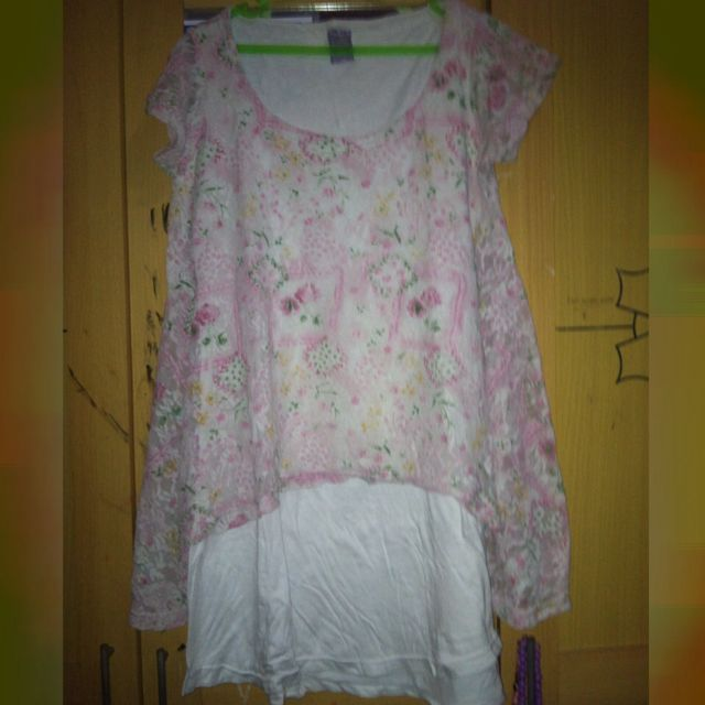 Preloved Dress Pink Brukat