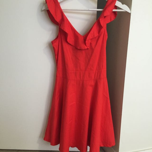 Red Party Dress- Size 10