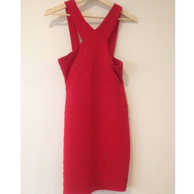 Ruby Red Bardot Party Dress