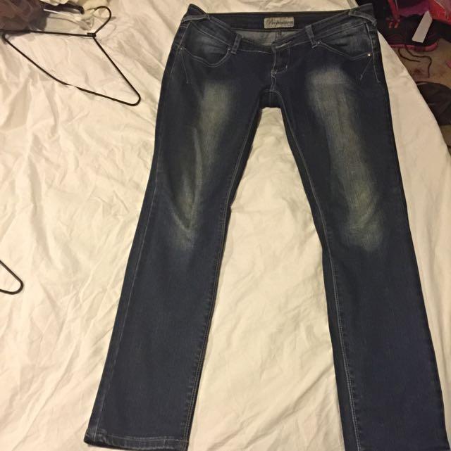 Size 12 Denim Blue Skinny Leg Jeans