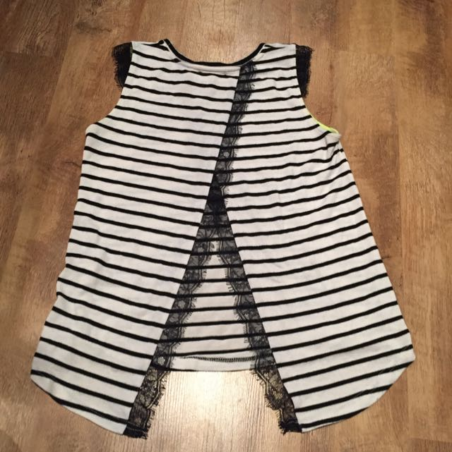 Stripped Open Back Top
