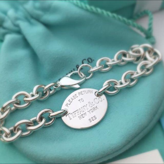 正品Tiffany 圓牌手鍊