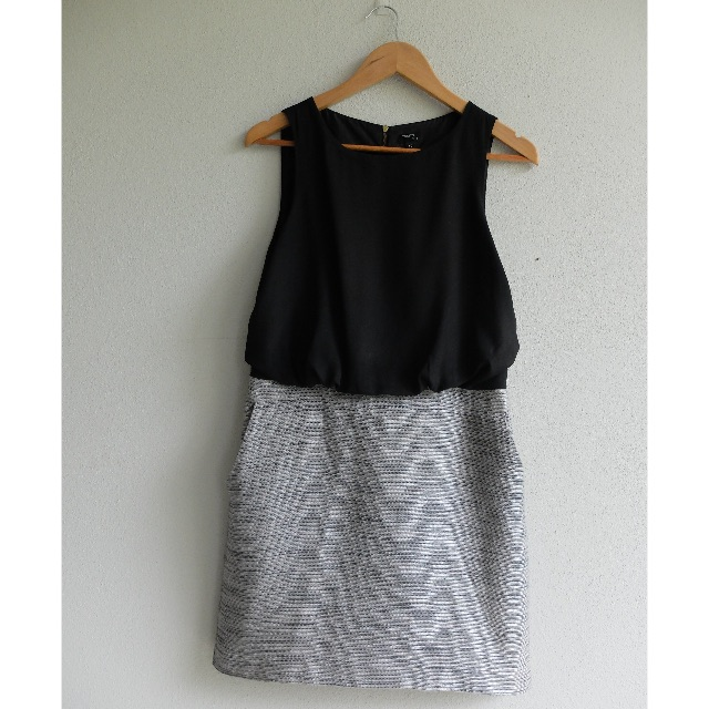 Tokito City Business Black and Grey Dress Size 10 – Top/Skirt Look