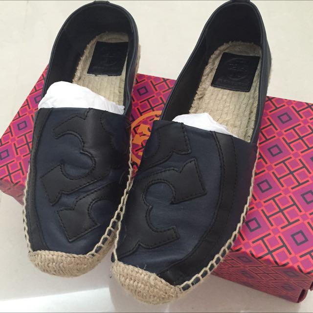 Tory burch草編鞋