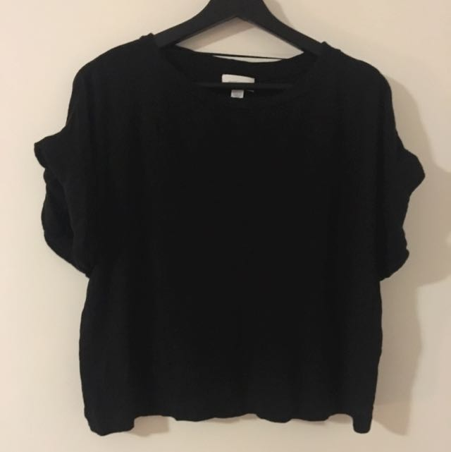 Witchery Crop Tee /Rolled Sleeve