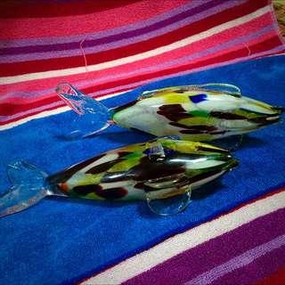 ITALY Glass Fish Deco