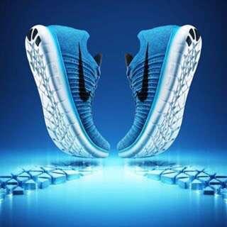 🗣 2016 ✨全新專櫃真貨✨ 含鞋盒 Nike free Flyknit 藍色 男鞋9號