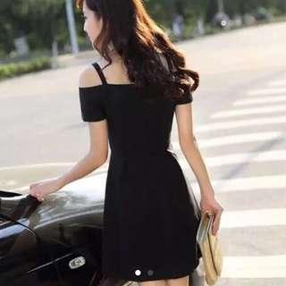 韓國露肩氣質裙