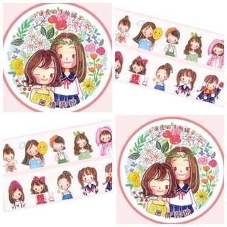 [INSTOCK] Cute Girls Washi
