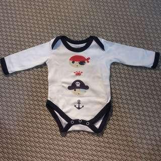 Little Pirate Long-sleeved Bodysuit