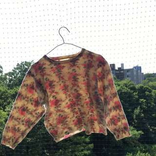 Floral Wool Sweater