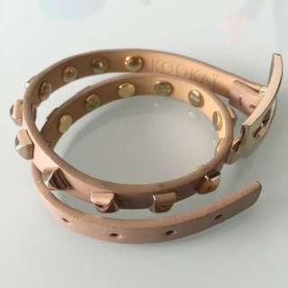 Kookai Authentic Double Wrist Leather Bangle