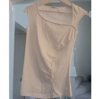 Kookai White top with side detail