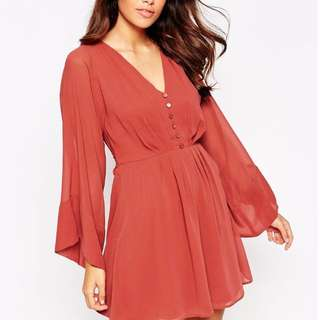 BNWT Asos Skater dress with flared sleeves