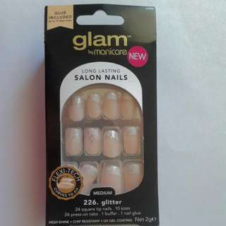 Glam By Manicure Long Lasting Salon Nails 226. Glitter