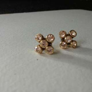 Fossil Jewellery -aunthentic Jewellery -rose Gold Plated Stud/Earring