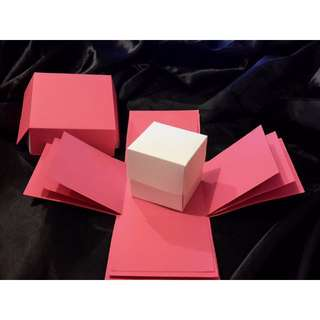 Exploding Box Shell with BONUS Gift BOX - DIY decorating - Hot Pink Explosion Box