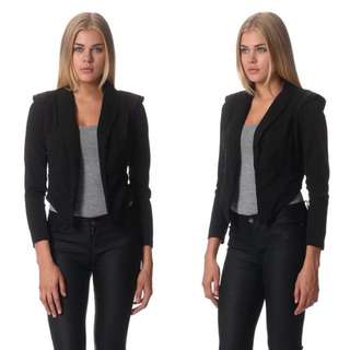 BNWT Black Jacket With Exaggerated Shoulders - Small