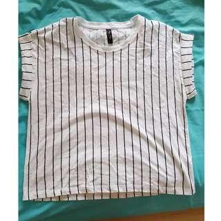 Miss Shop Myer Crop Striped Top Size 10 (suit 8-10) BNWOT