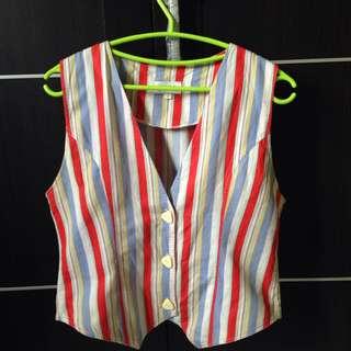 Colorful Stripes Vest