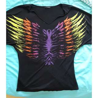 Colourful Winged Top Size 8-10