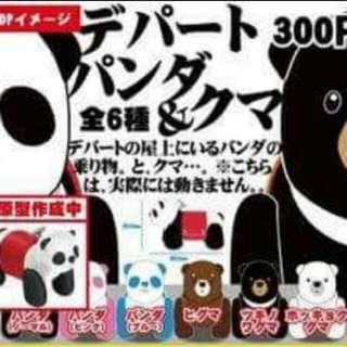 熊貓車 扭蛋 全6種