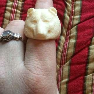 Bone Bear Ring.
