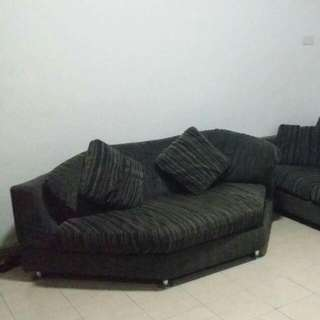 Cozy Living Room L Shape Type Sofa. Well Maintained