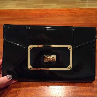 Black Colette Clutch Bag