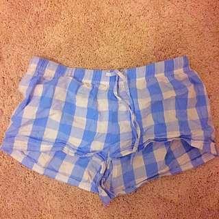 Blue Checker Pyjama Shorts