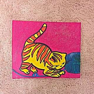 Cat Painting By Angela Guina