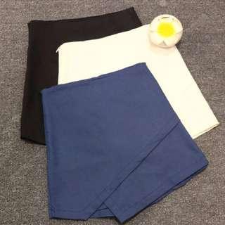 預購💕韓版不規則A字高腰修身褲裙