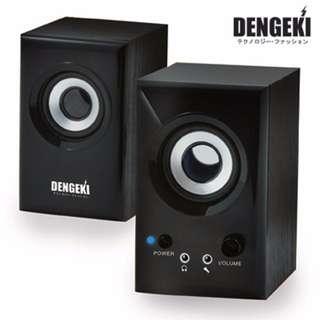 【迪特軍3C】DENGEKI電擊木質多媒體AC電源喇叭(SK-631) 冷光電源指示 耳機 麥克風插孔 AC電源