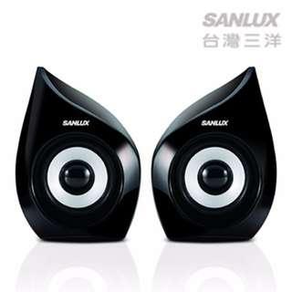 【迪特軍3C】台灣三洋2.0聲道USB多媒體電腦喇叭(SYSP-235) 耳機孔 防磁設計 高傳真立體音效
