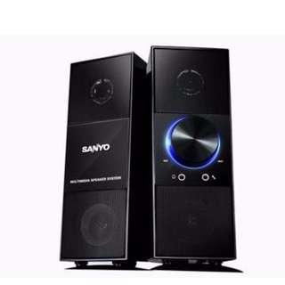 【迪特軍3C】三洋 天之韻2.0喇叭黑 SANYO 耳機孔 2.0聲道主動式電腦喇叭 660W 音質清晰