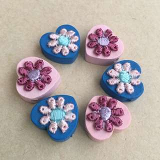 (NEW) Floral Wooden Beads (Mixed)