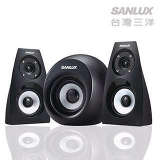 【迪特軍3C】SANLUX台灣三洋2.1聲道AC重低音喇叭 SYSP-313 AC電源設計 耳機插孔 2.1聲道輸出 音箱防磁設計 電源及音量控制