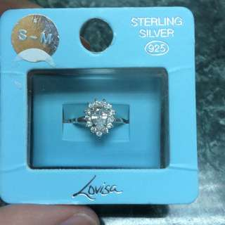 Lovisa 925 Silver Teardrop Diamond Ring