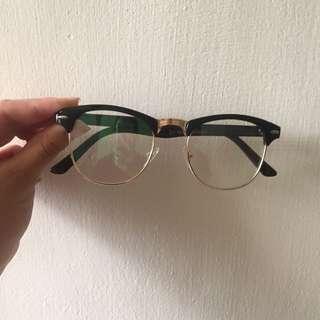 貓眼半框金屬邊眼鏡框