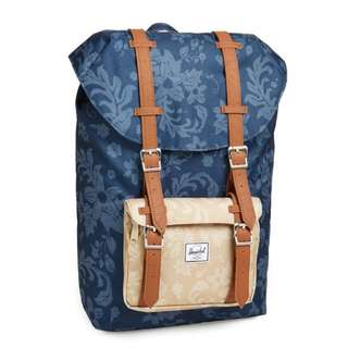 Brand New Authentic Herschel Supply Co. 'Little America - Mid Volume' Backpack (Rare Design!) - Navy Waldorf & Khaki