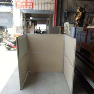 *挑戰賣場最便宜140CMㄇ字型鋁製屏風 一人座屏風 OA桌 檔板 隔板 單人座薄鐵屏風*A1006